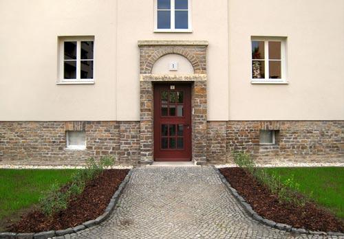 Hauseingang Einsteinstraße/Limburger Straße